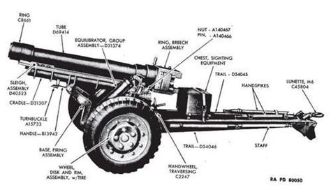 Q Q M114 J003y Original obusier 105mm hm 3 draguignan maquetland le monde