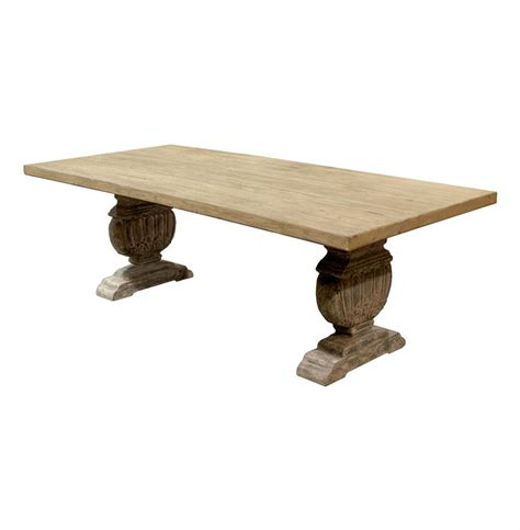 Farmhouse Trestle Dining Table Cervantes Country Trestle Base Farmhouse Dining Table Kathy Kuo Home