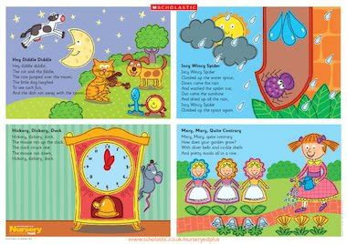 every child posters and rhyme nursery rhymes poster early years teaching resource scholastic