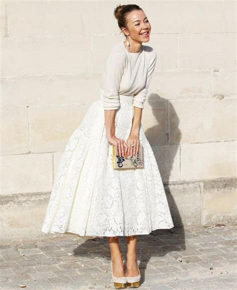 Ajeng Blouse midi skirt and white top i like your style