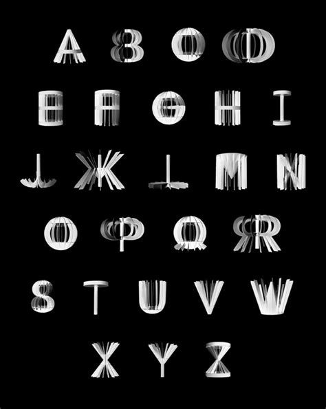 3 dimensional typography 360 186 typeface max longstaff