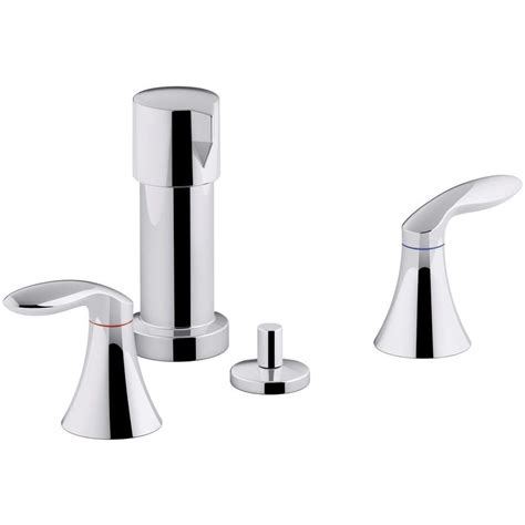 kohler coralais  handle bidet faucet  polished chrome