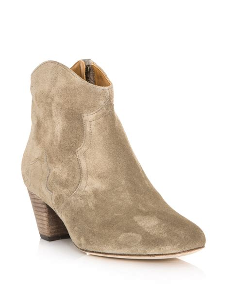 dicker boots marant dicker boots in beige taupe lyst