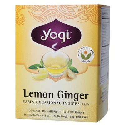 Yogi Lemon Detox Tea by Yogi Tea Herbal Tea Bags Lemon Supplement Store