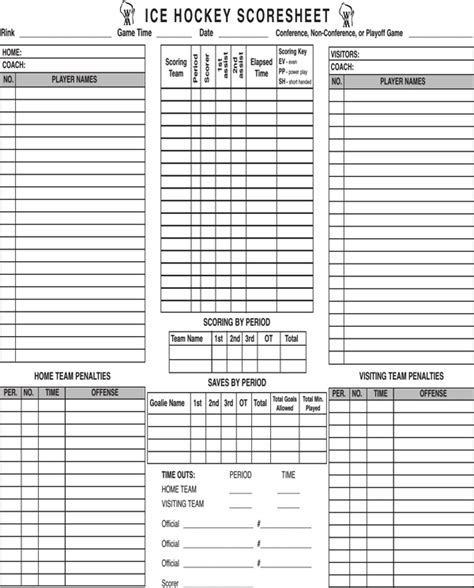 hockey score sheet hockey scoresheet for free formtemplate