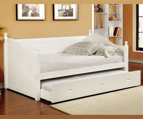 White Wood Daybed With Trundle Walcott White Complete Solid Wood Daybed With Trundle