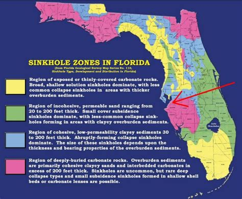 sinkhole map of florida sinkhole zones in florida florida the o