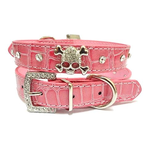 pet collar pu leather collar rhinestone puppy buckle puppy pet