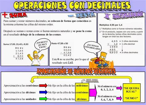 libro operaciones con decimales operations maestro san blas suma resta y multiplicaci 243 n con n 250 meros decimales