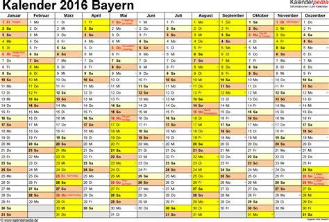 Feiertage Kalender 2016 Ferien Bayern 2016 220 Bersicht Der Ferientermine