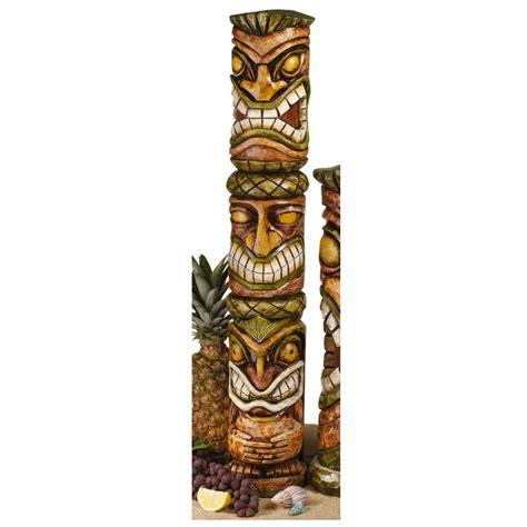 Tiki L by Mahalo Tiki Large Hawaiian Totem Primitive Tiki