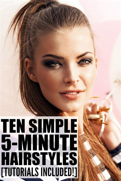 Easy 5 Minute Hairstyles by Easy Hairstyles In 5 Minutes