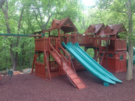 swing set stain deck and swing set staining
