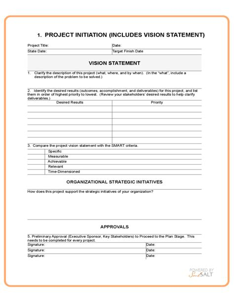 project management form templates generic project management template free