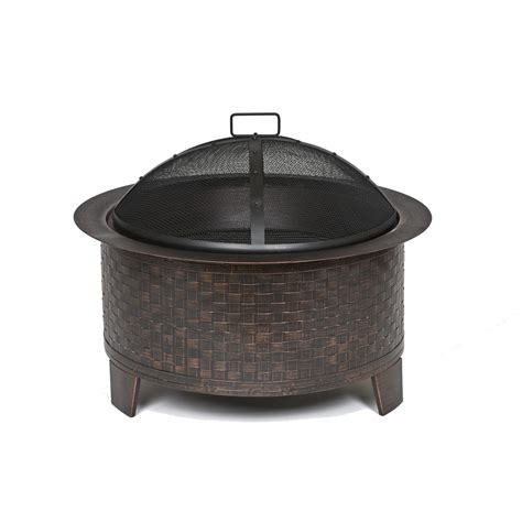 Amazon Com Cobraco Fb6132 30 Inch Round Cast Iron Copper Cast Iron Firepits