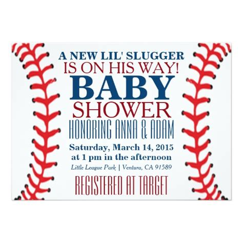 baseball invitation template all baseball baby shower invitations zazzle