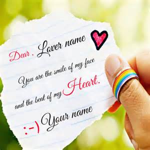 write name on cute love note profile picture