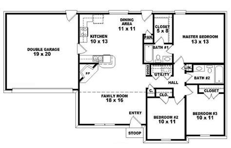 three bedroom ranch house plans nrtradiantcom luxamcc 3 bedroom 2 bath ranch house plans readvillage luxamcc