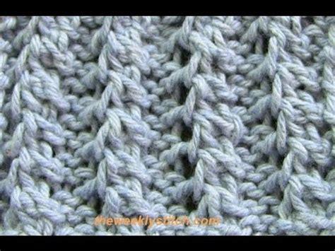 k2tog tbl knitting feather rib
