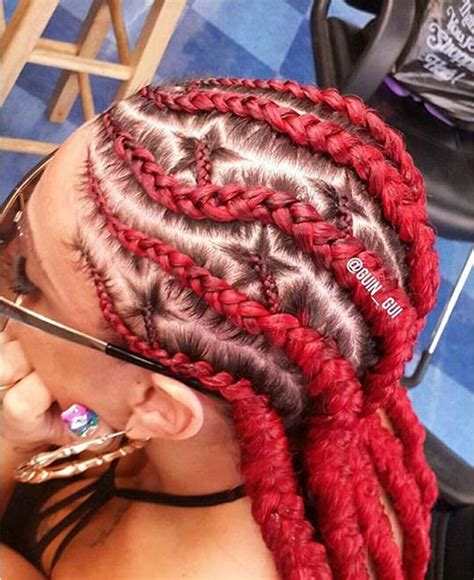 red cornrow braided hair 31 stylish ways to rock cornrows stayglam
