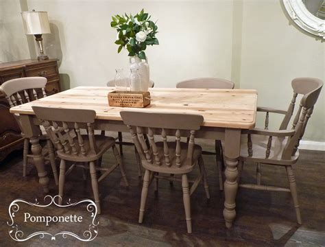 Chalk Paint Dining Table by Farmhouse Dining Set By Pomponette Sloan
