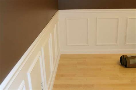 Chair Rail Wainscoting by Bloombety With Wainscot Chair Rail Wall Brown