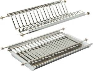 stainless steel plate rack with drainer tray for 500 mm