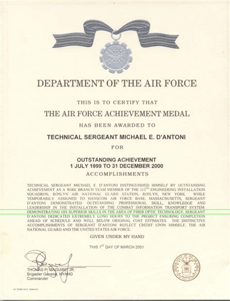 air achievement medal template fiber optic wiring home cat5 home wiring elsavadorla