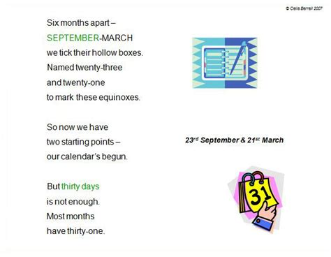 Calendar Rhyme Search Results For Images For Poetry Calendar Calendar