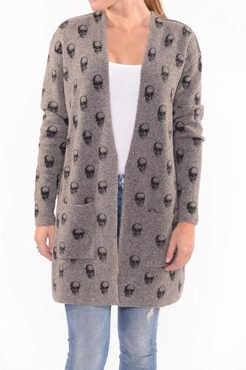 skull printed cardigan skull skull printed cardigan from vail by