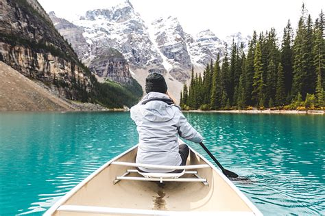 a photo essay banff national canoeing at moraine lake in banff national park wander
