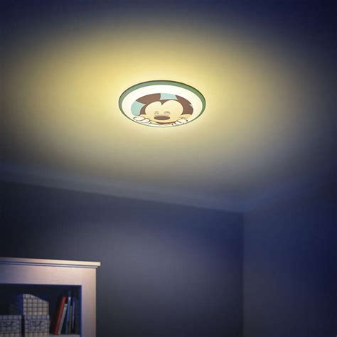 Mickey Led mickey mouse ceiling light led childrens ls lightshop