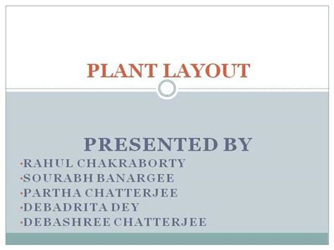 layout plant ppt plant layout authorstream