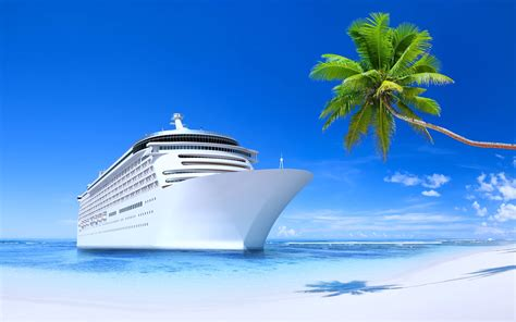 cruise and vacation desk steamship ship tourism travel island blue