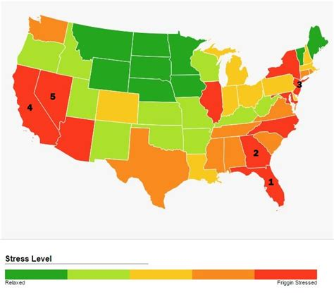 10 most stressed out states in america