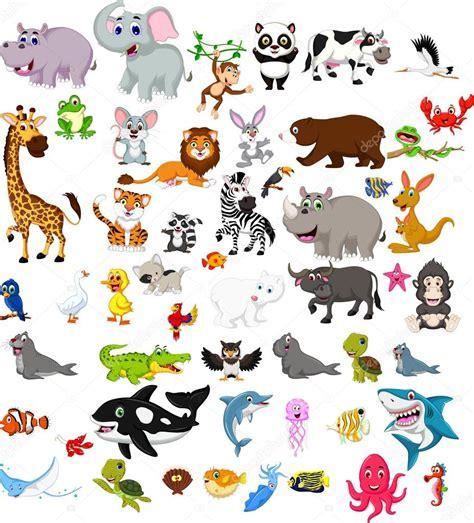 imagenes animales grandes conjunto de animales grandes de dibujos animados archivo