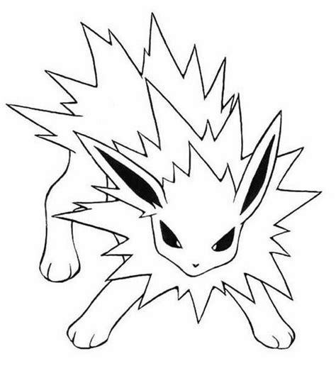 pokemon coloring pages jolteon jolteon coloring pages google search colouring pages