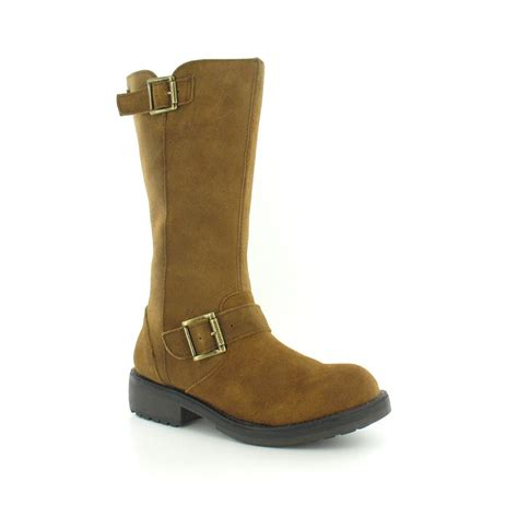 womens boot style slippers rocket knockout womens suede leather mid calf biker
