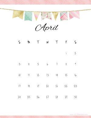 april 2017 calendar cute   free calendar 2017