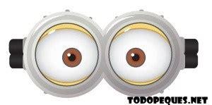 imagenes de los minions ojos moldes de ojos y bocas de minions para imprimir gratis