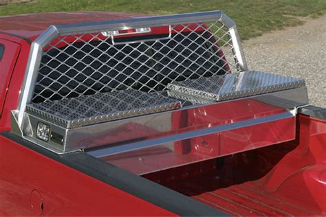 Protech Rack by Dual Size Cross Toolbox Work Truck Toolboxes