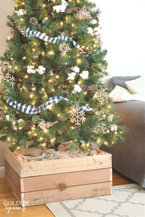 how to make a christmas tree stand how to make ribbon out of your favorite fabric no sew the golden sycamore