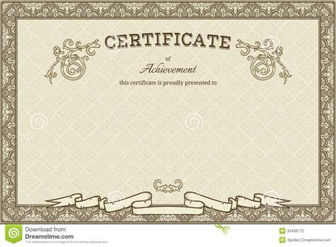 vintage certificate template vintage certificate borders blank certificates