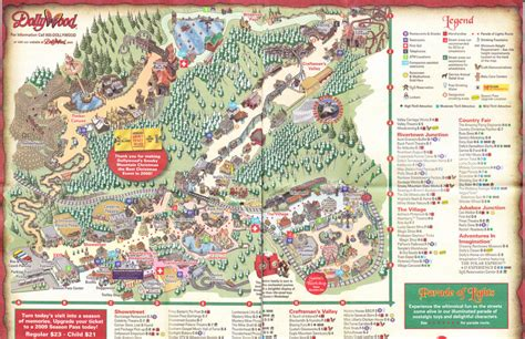 dollywood map dollywood 2008 park map