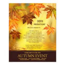 Fall Flyer Template by Fall And Event Flyer Template Zazzle