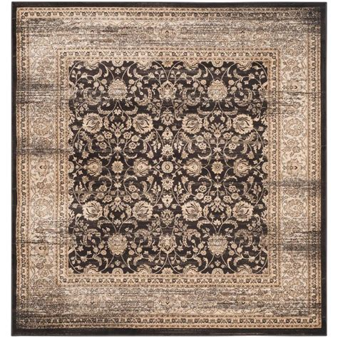 7 ft square area rugs safavieh vintage black ivory 6 ft 7 in x 6 ft 7 in square area rug vtg571f 7sq the home depot