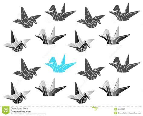 Origami Crane Designs - polygonal vector origami cranes patten royalty free stock
