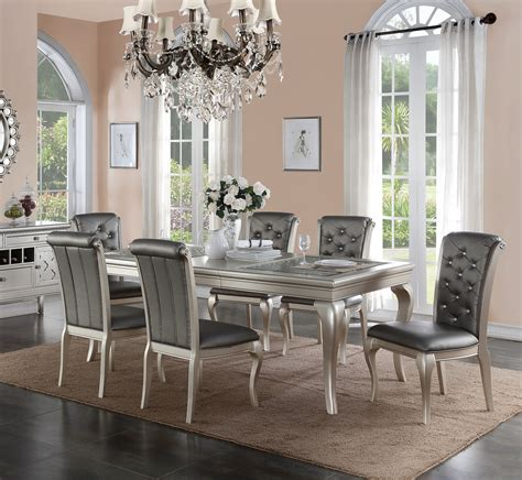 dining room sets orange county poundex f metallic silver dining set orange county on