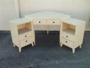 Vintage Corner Desk Vintage Wood Corner Desk With Matching End Tables To Paint