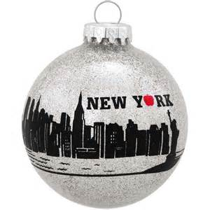 new york city skyline glass ornament bronner s christmas